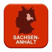 Red Button - German region Sachsen-Anhalt — Stock Photo