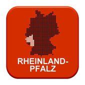Red Button - German region Rheinland-Pfalz — Stock Photo