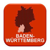 Red Button - German region Baden Wuertemberg — Stock Photo