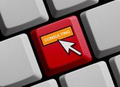 Computer Keyboard showing Consulting — Stock Photo
