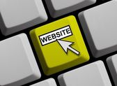 Computer Keyboard showing Website — Stock Photo