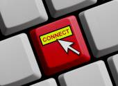 Computer Keyboard showing connect — Stock Photo