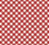 Diagonal Tablecloth Pattern red white — Stock Photo