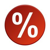 Round Button - Percent — Stock Photo