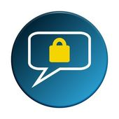 Round Button - Secure communication — Stockfoto