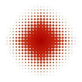 Star of red dots — Stock Photo