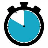 Stopwatch icon - 50 Seconds 50 Minutes or 10 hours — Stock Photo