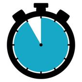 Stopwatch icon - 55 Seconds 55 Minutes or 11 hours — Stock Photo