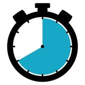 Stopwatch icon - 40 Seconds 40 Minutes or 8 hours — Stock Photo