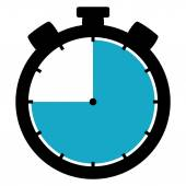 Stopwatch icon - 45 Second 45 Minutes or 9 hours — Stock fotografie