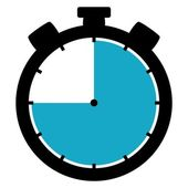 Stopwatch icon - 45 Second 45 Minutes or 9 hours — Stock Photo