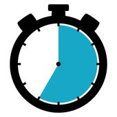 Stopwatch icon - 35 Seconds 35 Minutes or 7 hours — Stock Photo