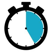 Stopwatch icon - 25 Seconds 25 Minutes or 5 hours — 图库照片