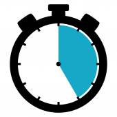 Stopwatch icon - 25 Seconds 25 Minutes or 5 hours — Stock Photo