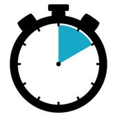Stopwatch icon - 10 Seconds 10 Minutes or 2 hours — Foto Stock