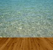 Boardwalk at the water — Stock Photo