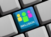 Inklusion online — Stock Photo
