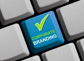 Corporate Branding online — Stock Photo