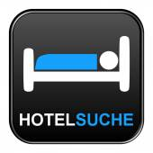 Button - Hotel search — Stock Photo
