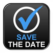 Button - Save the date — Stock Photo