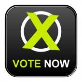 Button - Vote now — Stock Photo