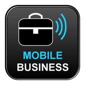Button - Mobile Business — Stock Photo