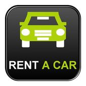 Button - Rent a car — Stock Photo
