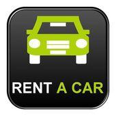Button - Rent a car — Foto de Stock