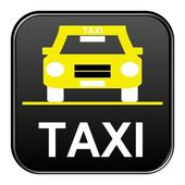 Black Button showing Taxi — Stock Photo