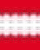 Gradient of red dots on white — Stock Photo