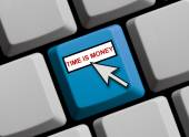 Time is money online — Stock Photo