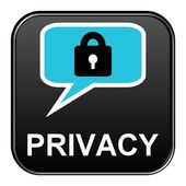 Black Button showing Privacy — Stock Photo