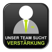 Black Button showing we are recruiting german — Stock Photo