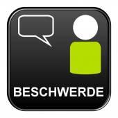 Black Button showingcomplaint german — Stock Photo