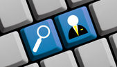 Search for jobs online — Stock Photo