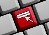 Cyberstalking online — Stock Photo