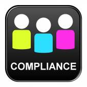 Black Button showing compliance — Stock Photo