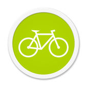 Rund Button showing bicycle — Stock Photo