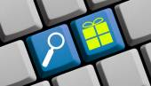 Search for presents online — Stock Photo
