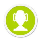 Rund Button showing trophy — Stock Photo