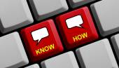 Wissen wie online — Stockfoto