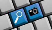 Search for photos online — Stock Photo