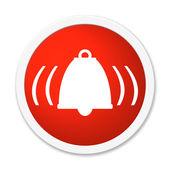 Rund Button showing alarm bell — Stock Photo