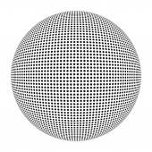 Ball with 3D pattern in black and white — Stock Photo