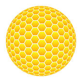 Ball with honeycomb pattern in orange — Stock Photo