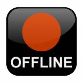 Isolated Button black offline — Stock Photo