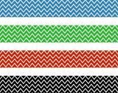 Four zigzag pattern — Stock Photo