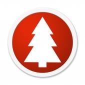 Knop ronde Fir tree symbool — Stockfoto