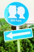 Kiss place — Stock Photo