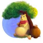 Постер, плакат: The illustration of Winnie the Pooh